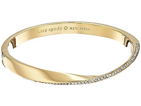 Kate Spade New York Do The Twist Paved Hinged Bangle Bracelet