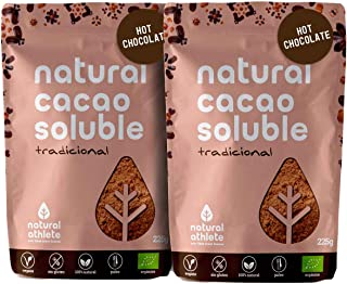 Cacao en Polvo Orgánico Soluble Natural Athlete 75% Menos