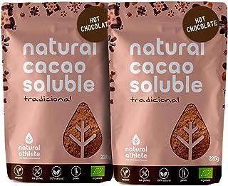Cacao BIO en Polvo Soluble Natural Athlete con Azúcar de Coco, Sin Gluten, Sin Lactosa, Vegano, 75% Menos de Azúcar -Pack ...