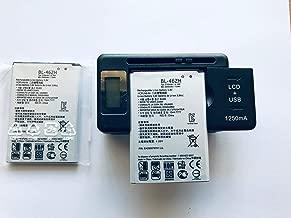 Replacement 2X Battery + 1X USB LCD Charger for LG K8 K7 K371 Phoenix 2 LS675 Tribute 5 K330 Treature LTE L52VL L51AL US375 K8 V VS500 K373 Escape 3 BL-46ZH 2125 MAH