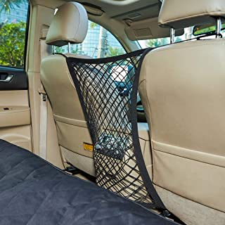 INNX Pet Barrier Safety Net Dog Barrier-OP102008 (2019 Popular Design) Universal for Cars, Jeeps, Trucks, Suvs, Vehicles, Dogs, Pets, Seatback, Front Seat, Heavy Duty and Portable, 11.8