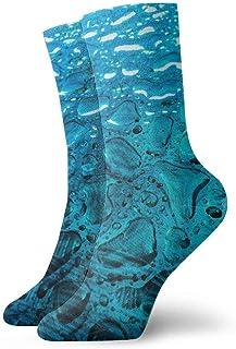 tyui7, Blue Drops Calcetines de compresión antideslizantes de agua superficial Calcetines deportivos de 30 cm para hombres, mujeres y niños