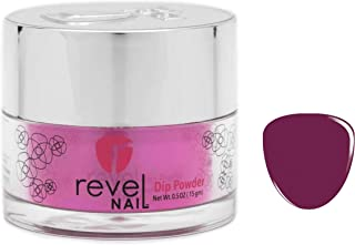 Revel Nail Dip Powder   for Manicures   Nail Polish Alternative   Non-Toxic & Odor-Free   Crack & Chip Resistant   Can Last Up to 8 Weeks   1oz Jar   Revel Mates   Lust