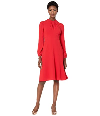 Maggy London Solid Crepe Fit and Flare Dress (Rose Trelis) Women