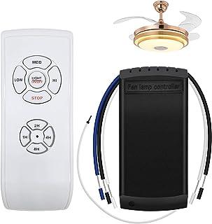 YLX Mando a Distancia Universal para Ventilador de Techo, Control Remoto para Ventilador de Techo Controlador de lámpara de Ventilador Kit de Control Remoto Transmisor y Receptor