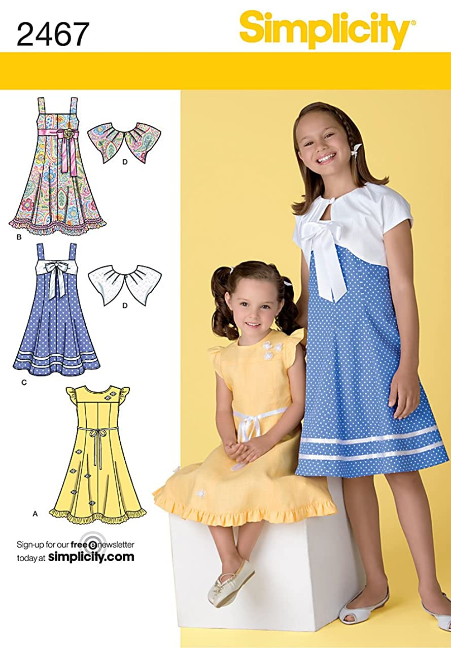 Simplicity Sewing Pattern 2467 Child's Dresses, K5 (7-8-10-12-14)