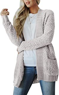 ZESICA Women's Open Front Long Sleeve Soft Chunky Knit Cardigan Sweaters Loose Outwear Coat