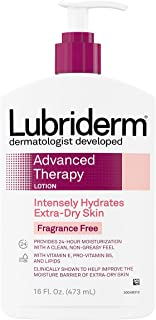 Lubriderm Advanced Therapy Moisturizing Lotion with Vitamins E and B5, Deep Hydration for Extra Dry Skin, Non-Greasy Formu...