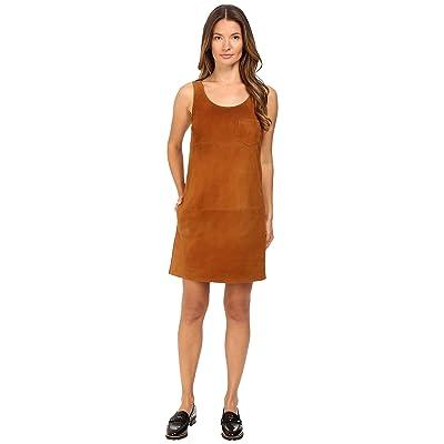 ATM Anthony Thomas Melillo V-Neck Suede Dress (Cognac) Women