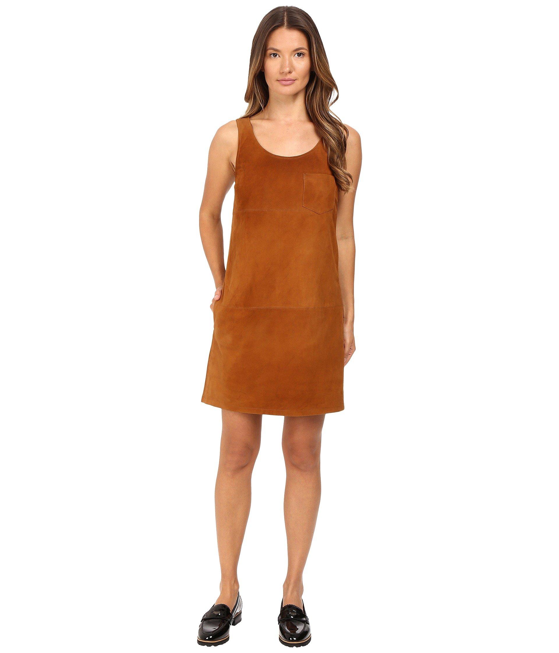 V-Neck Suede Dress