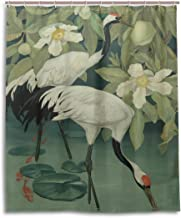 ZOEO Bath Shower Curtain 60x72 Inch,Art Elegant Red-Crowned Cranes,Waterproof Polyester Fabric Bathroom Curtain