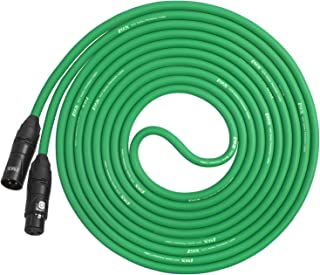 LyxPro 10 Feet XLR Microphone Cable Balanced Male to Female 3 Pin Mic Cord for Powered Speakers Audio Interface Professional Pro Audio Performance and Recording Devices - Green
