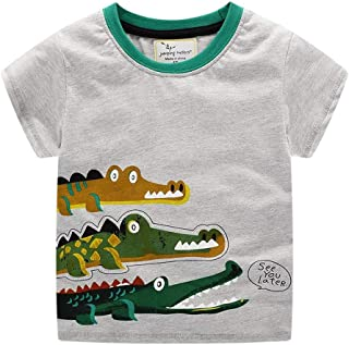 Summer Boys T Shirt Fashion Cotton Half Short Sleeve Round Neck Printed Kids Tee