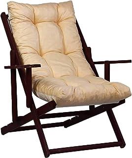 TecnoWeb Coussin de rechange pour fauteuil de détente, rembourré, couleur écru