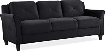 Lifestyle Solutions KD Rolled-Arm Collection Grayson Micro-Fabric Sofa