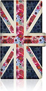 CaseMarket Amazon.co.jp 【手帳式】 CaseMarket AQUOS ZETA (SH-01G) スリム ケース [ ユニオンジャック コレクション フローラル UK 1927 ダイアリー ] SH-01G-VCM2D2261