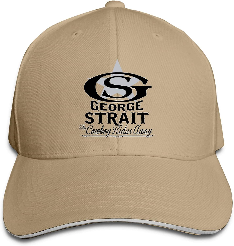 George_Strait Unisex Adjustable Sandwich for Sports Trucker Hat
