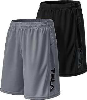 "Tesla Men's Running Shorts Quick Dry Mesh Liner Jogging Training 7"""