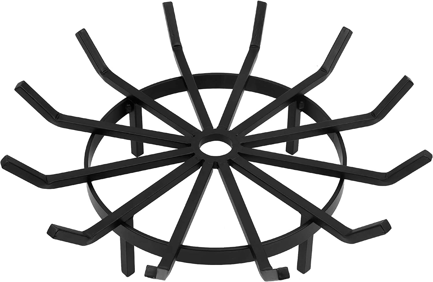 Max 65% OFF Amagabeli 24in 5 ☆ popular Fire Grate Log Pit Iron Round Wrought