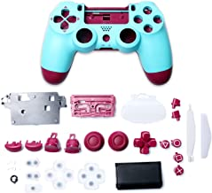 Game Controller Housing Case with Buttons Replacement Set for Playstation 4, Berry Blue