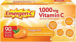 Emergen-C Tangerine Fizzy Drink Mix 90 Pack