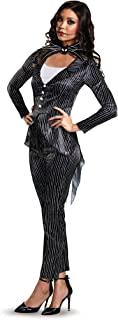Disney Women's Jack Skellington Deluxe Adult Costume, Multi