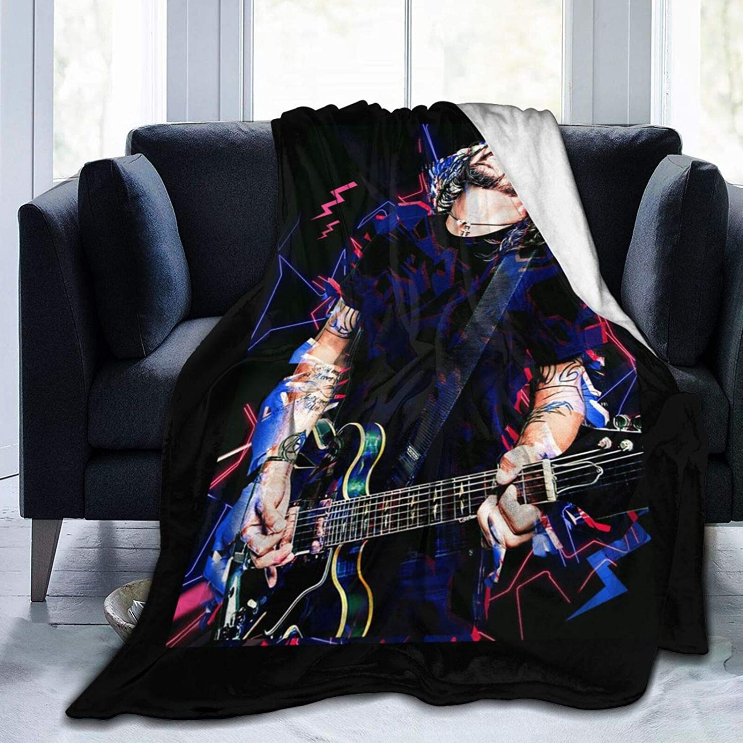 Fzqdd Ultra Soft Flannel Fleece Bed Blanket Dave Ranking Award-winning store TOP20 Bla Grohl Throw