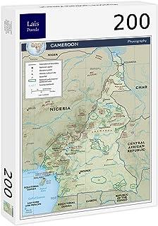 Lais Puzzle Mapa Físico Camerún 200 Piezas