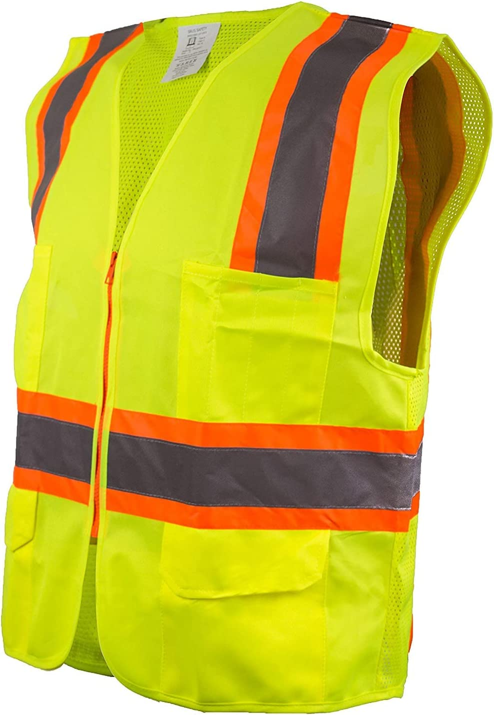 Minneapolis Mall Set of 3 Troy Safety 9812 Vest Tulsa Mall Visibility High Two Tone