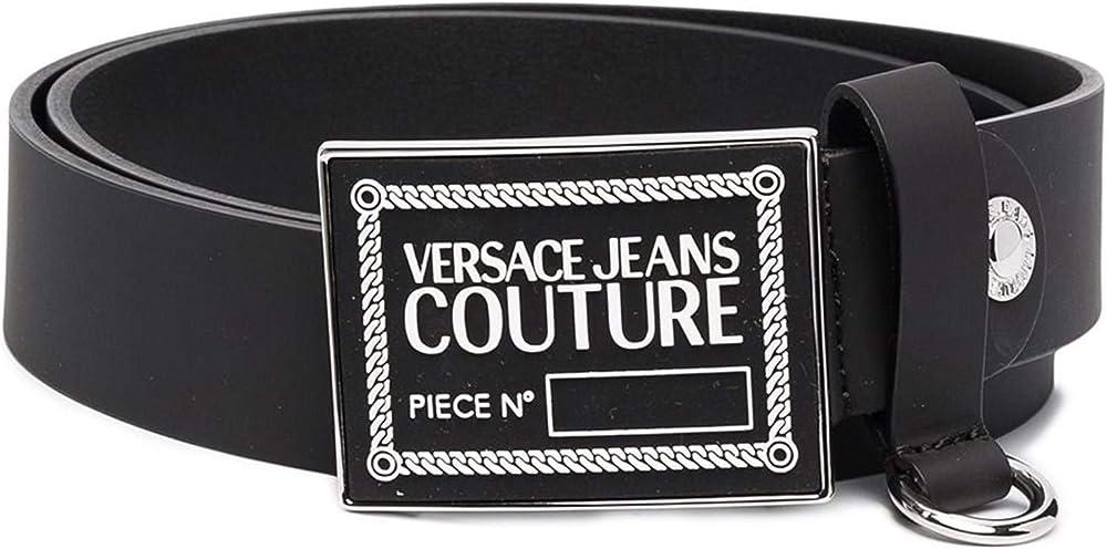 Versace jeans couture,cintura per uomo,realizzata in ecopelle, fibbia in metallo logata D8 YWAF2171632