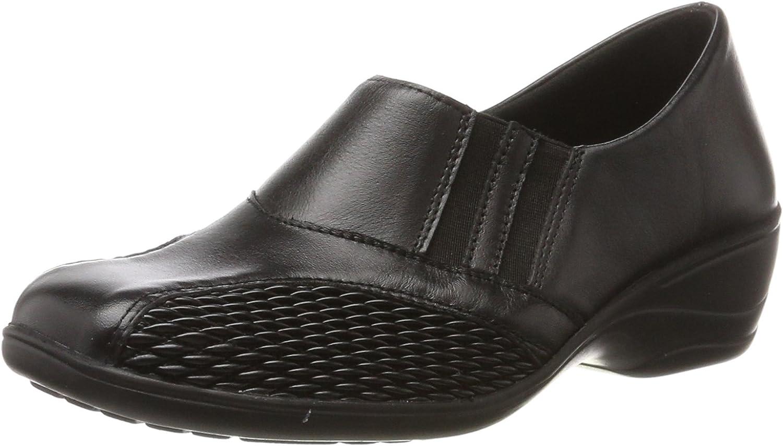 Comfortabel Damen Halbschuhe, Slipper, black, 941546-1