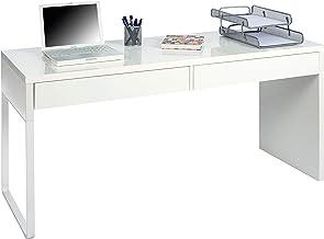 Habitdesign 002315A - Mesa Escritorio, Mesa de despacho Dos cajones, messa de Ordenador Color Blanco Artik, Modelo Touch, Medidas: 138 cm (Largo) x 50 cm