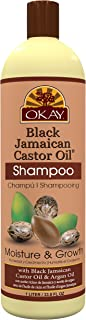 OKAY | Black Jamaican Castor Oil Moisture Growth Shampoo | For All Hair Types & Textures | Moisturize & Regrow Hair | With...