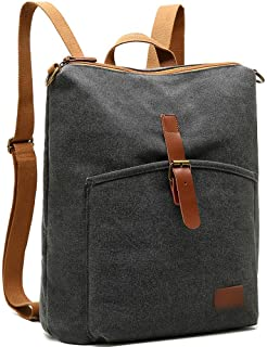 Daypacks Male Canvas Backpack Large Capacity Backpack Travel Large Backpack (Color : Gray, Size : 13.3inch)