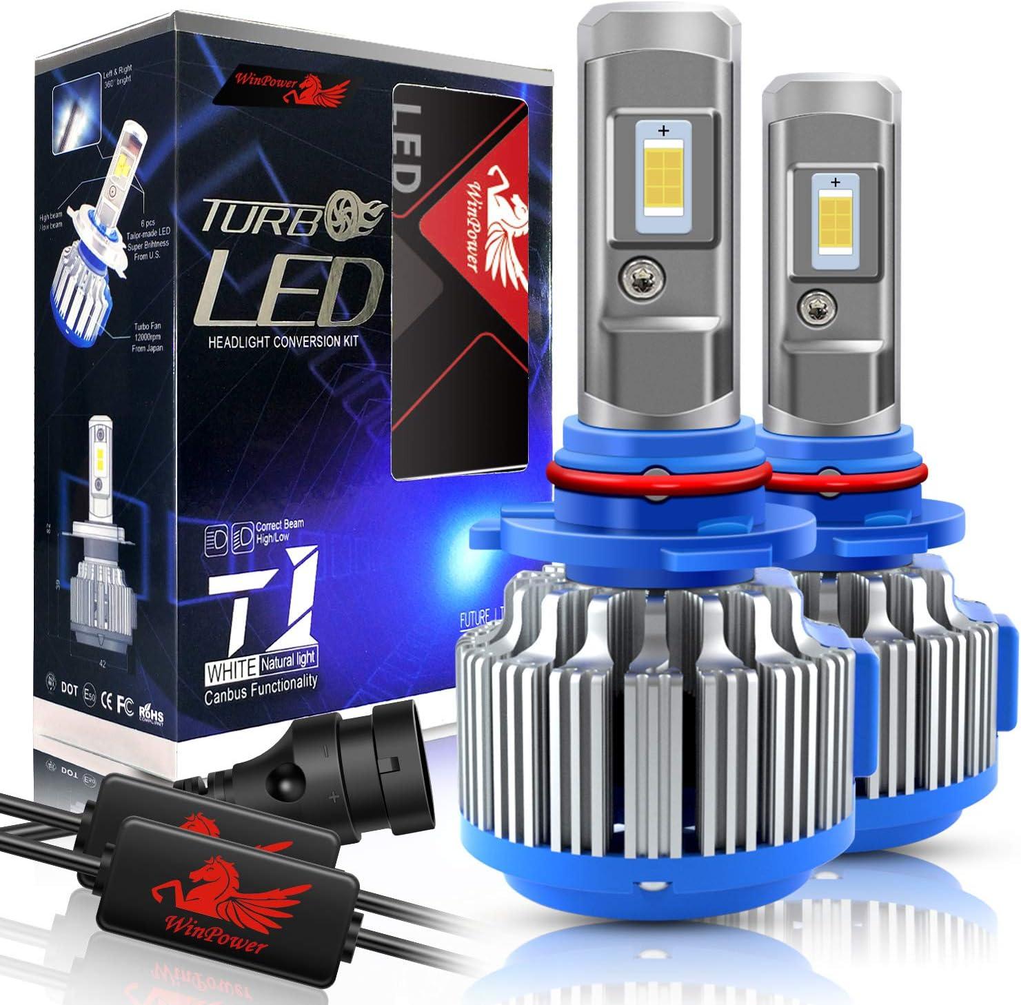 Win Power 9006 LED Headlight Bulbs 6000k Kit Cool Whi Brand Cheap Sale Venue Direct stock discount Conversion
