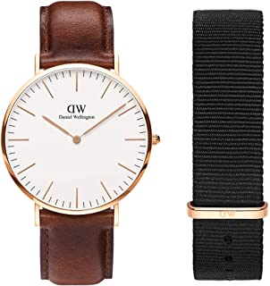 Daniel Wellington Unisex Classic St Mawes 40mm Watch, 20mm Cornwall Strap Gift Set