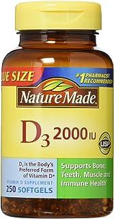 Nature Made 维生素D3 2,000 I.U. 液体软胶囊,250粒(2瓶装)