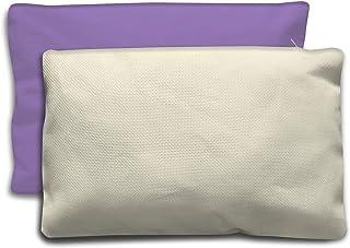 Crociedelizie, Cuscino copricuscino arredo federa shabby chic tela aida bianca o ecrù beige con cerniera 30 x 50 cm da ric...
