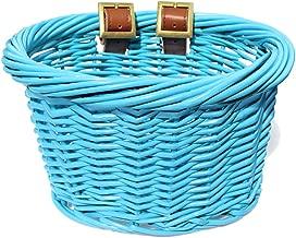 Colorbasket 01549 Kids Front Handlebar Wicker Bike Basket, Leather Straps