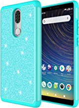 Customerfirst Case for Coolpad Alchemy (T-Mobile, Metro PCS, Boost)/ Coolpad Legacy Cute Glitter Bling Sparkle Dual Layer Protective Hybrid Shockproof Girls Bumper [Includes Screen Protector] (Teal)