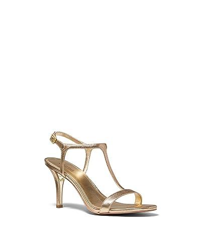 MICHAEL Michael Kors Arden T Strap (Pale Gold) Women