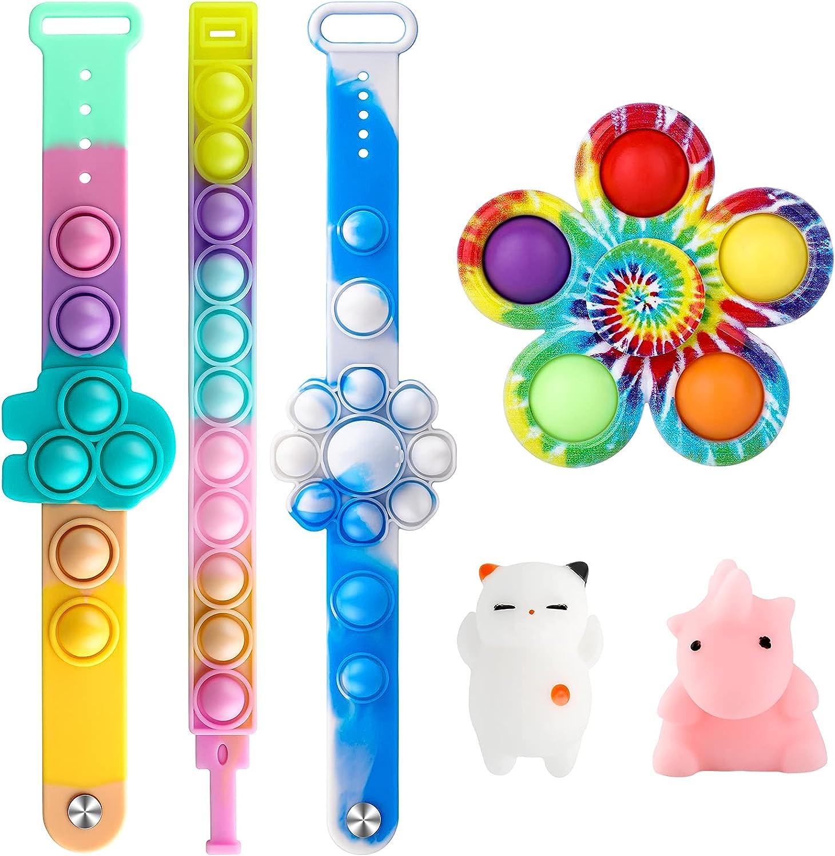i-FSK 6 Pack Pop Sale Fidget Wristband Stress Toys Relief Bracelets Super intense SALE