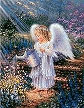 Puzzle 1000 Piezas Adulto Angel Niña Regando Flores Pintura Del Hogar Del Arte