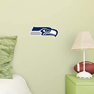 FATHEAD NFL Seattle Seahawks - Logo Teammate- Officially Licensed Removable Wall Decal, Multicolor, Large - 89-00499