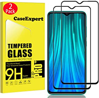 CaseExpert 2-pack – Xiaomi Redmi Note 8 Pro härdat glas, härdat glas kristallklart skärmskydd skydd & polerduk för Xiaomi ...