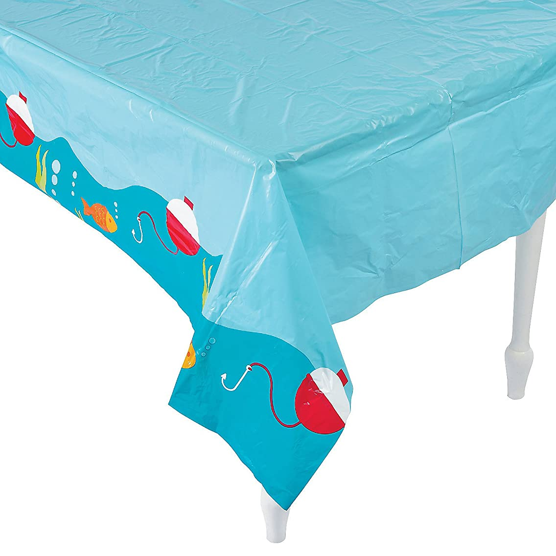 Fun Express - Little Fisherman Tablecover for Birthday - Party Supplies - Table Covers - Print Table Covers - Birthday - 1 Piece