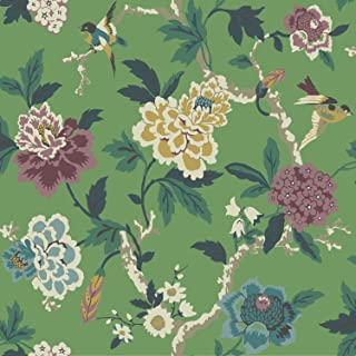 York Wallcoverings Waverly Candid Moment Removable Wallpaper Greens