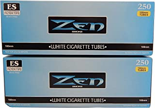 Zen Light 100's Cigarette Tubes -2 Pack, 250 ct per box