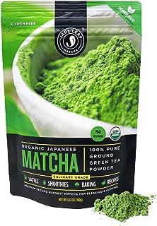 Jade Leaf Organic Matcha Green Tea Powder - Authentic Japanese Origin - Premium Second Harvest Culinary Grade (3.53 Ounce)