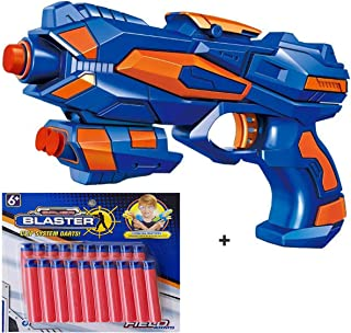 Magicwand Foam Blaster Gun with FREE 25 Bullets,High quality plastic (Multi color, Pack of 1 Gun)